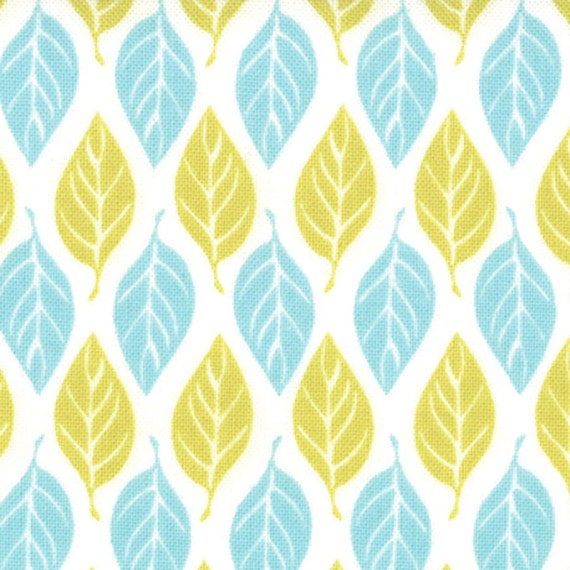 "20"" piece/remnant - SALE - Terrain - Leaves in Foliage: sku 27097-23 cotton quilting fabric by Kate Spain for Moda Fabrics"