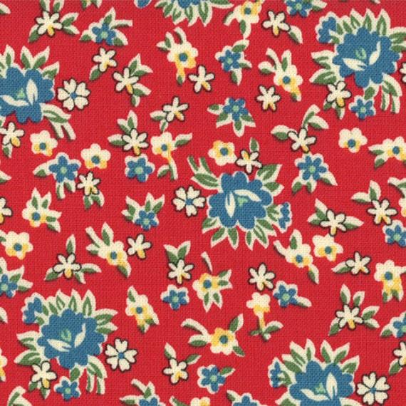 1/2 yard - School Days - Teachers Bouquet in Apple: sku 21617-16 cotton quilting fabric by American Jane for Moda Fabrics