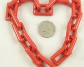 Foot of Cherry Red Vintage Plastic Jewelry Chain