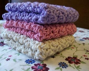 Choose your own colors Crochet  Dishcloths
