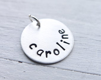 Add or Replace a Sterling Silver Charm Personalized Pendant Only No Chain included Addon Charms for Handstamped Necklaces Sterling Silver