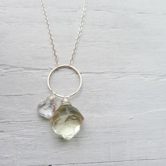 Lemon Drop Necklace - Geometric Charm Necklace