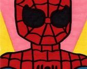 Spider-Man framed original pop art, Neil Jam style
