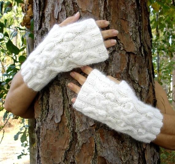 SALE Angora Fluffy wristwarmers