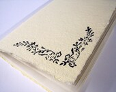 Lovely Cream Hand Stitched Notebook