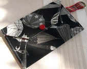 Classic Snap Wallet with Fob -Umbrella Checks