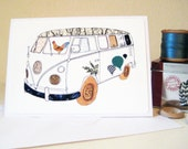 VW Camper van Greetings Card