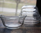 Set of 4 Glasbake Custard Cup
