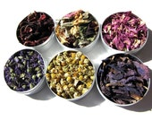 restorative and calming floral tea kit. makes a wonderful gift for herbal tea lovers.