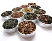 SALE. gourmet tea collection. 12 gourmet blends in one set. An excellent gift for any tea connaisseur.