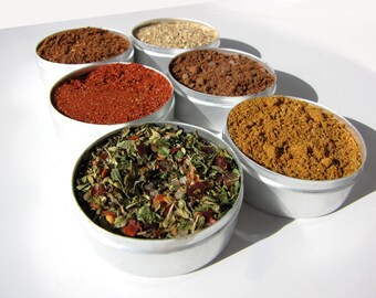 dry rub grilling kit. small gourmet BBQ blends kit for chicken and pork.  the perfect gift for a cook.