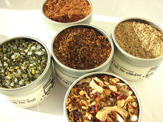 totemspice gourmet rubs kit. five delicious rubs for gifting to your grill chef.