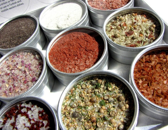 reserved for Teresa. large gourmet artisanal salts kit. add savory flavor to your baking and cooking.
