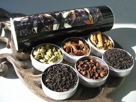 mini chai tea kit. organic spices. perfect idea for a stocking stuffer.