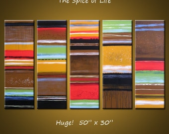 """Large Abstract Art Painting Original Modern Contemporary Wall Home Decor... 30"""" x 50"""",  ... Spice of Life by Amy Giacomelli"""