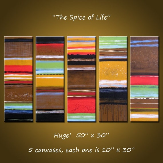 "Large Abstract Art Painting Original Modern Contemporary Wall Home Decor... 30"" x 50"",  ... Spice of Life by Amy Giacomelli"
