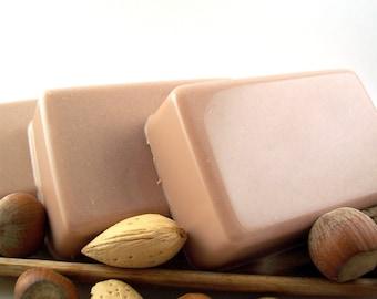 Hazelnut Vanilla Nutcraker Soap, Warm Scented Winter Holiday Soap
