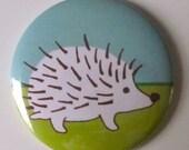 Hedgehog Pocket Mirror with Travel Case