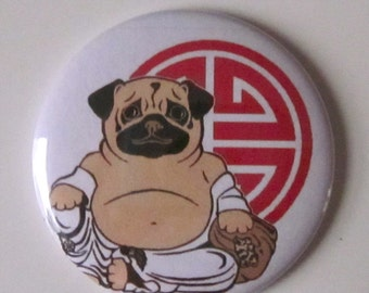 Buddha Pug Pocket Mirror