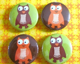 Owl Magnets (Set of 4)