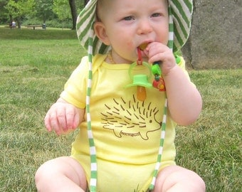 Hedgehog Baby One-Piece in Yellow