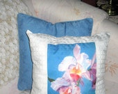 1  Orchid  Decorator Pillow Print    Cotton Cover      14x 14 inch   Ultimate Luxury