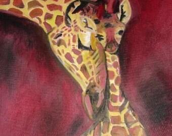 Giraffe   8-1/2 x 11 Print
