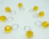 Lemon Butter Stitch Marker Drops for Knitting (Choose Your Size - Set of 8)