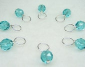 Mermaid Stitch Marker Drops for Knitting (Customizable: Choose Your Size - Set of 8)