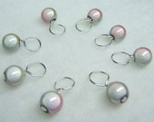 Joey's Pearl Stitch Marker Drops for Knitting (Choose Your Size - Set of 8)