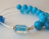 Healing Gemstone Row Counter Bracelet - Turquoise