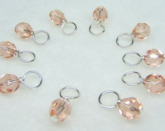 Rose Petal Droplet Stitch Markers for Knitting (Choose Your Size - Set of 10)