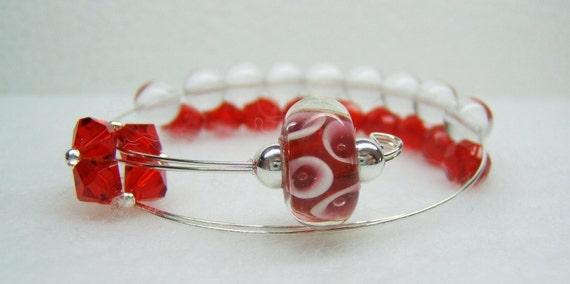 Red Slipper Row Counter Bracelet