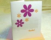 Plum Daisy Letterpress Thank You Notes