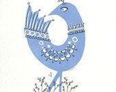 Blue Bird Print No.1