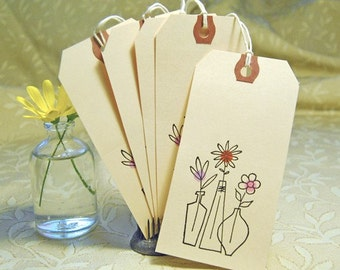 Floral Vase Gift Tags
