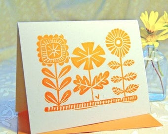 Three Flowers Note Card