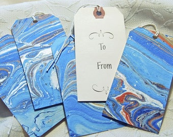 Marbled Letterpress Gift Tags