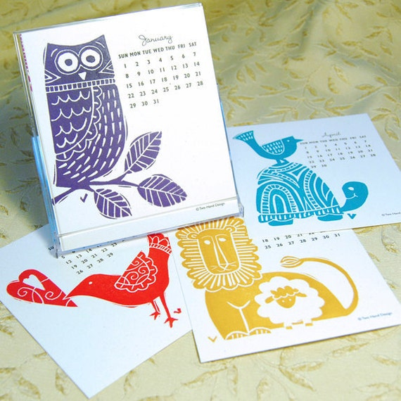 2012 Limited Edition Letterpress Calendar