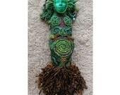 Grow - Beaded Goddess Art Doll