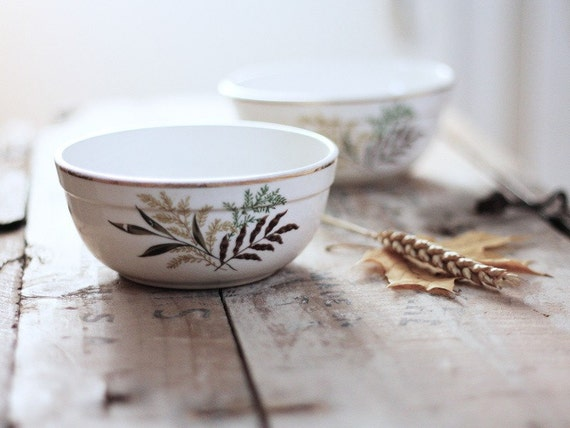 Rustic woodland berry bowls