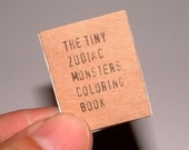 Tiny Zine \/ Coloring Book - Baby Zodiac Monsters