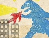 Godzilla Print - Free Shipping