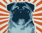 6x6 Pug No.1 - Retro Pop Art Dog Print