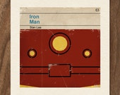 Classic Vintage Marvel Penguin Book Cover Print - Iron Man