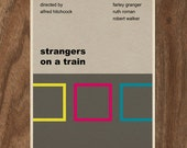 Strangers On A Train Alfred Hitchcock Movie Print