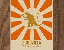 Godzilla 16x12 Movie Poster