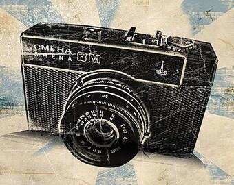 Vintage Camera Retro Art Print