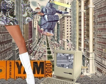 Limited Edition Collage Print - Retro City
