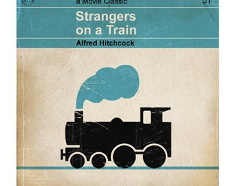 6x6 Classic Vintage Movie Print - Strangers on a Train
